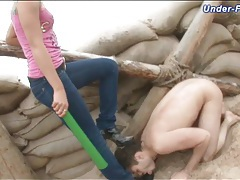 Dominated in the dirty by a clothed girl tubes