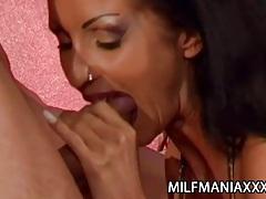Yvonne - pierced pussy milf fucked by two stiff cocks tubes