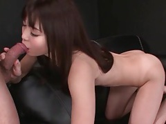 Big load in the mouth of japanese cocksucker tubes