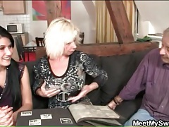 Teen and blonde mature suck on titties tubes