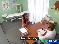 Fakehospital married wife with fertility problem has vagina examined and fucked by the doctor tubes
