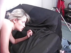 Long thick dick fucks slut and cums on her tubes