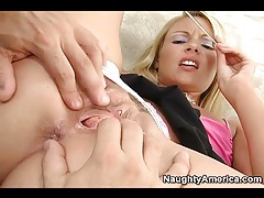Wet rimjob and pussy licking with blonde babe tubes