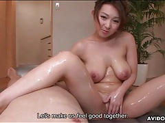 Oiled up handjob and tease with japanese girl tubes