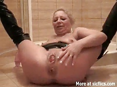 Fisting my slut wife and pissing in her face tubes