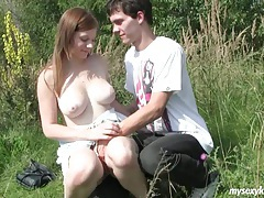 Busty teen charlotte gets nailed outdoors tubes