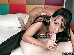 Latina in lovely lipstick sucks a dick tubes