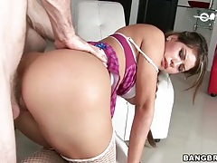 Fucking fat ass natalie and cumming on her tubes