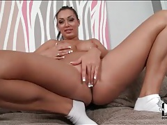 Naked rosalina love plays with her pussy tubes