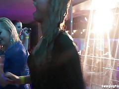 Slutty girls dancing erotically in a club tubes
