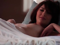 Cassie laine masturbates alone in bed tubes