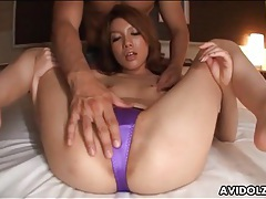 Japanese girl fingered and licked on pussy tubes