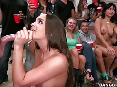 College party pussy eating and blowjob fun tubes