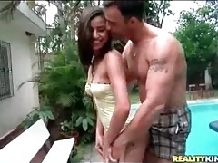 Latina slut kamilla sucks hard dick outdoors tubes