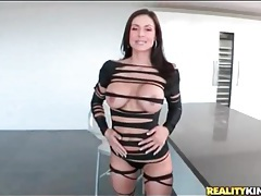 Milf kendra lust models her smoking hot outfit tubes