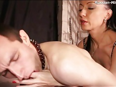 Strapon cock fucks asshole of submissive guy tubes
