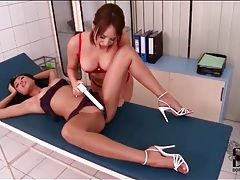 Lesbian sex on exam table at doctor office tubes