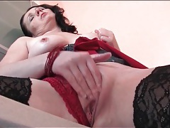 Milf finger fucked on the kitchen counter tubes