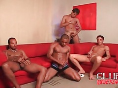 Latin guys suck cock in hot orgy tubes