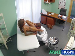 Fakehospital spying on hot young babe having special treatment from the doctor pov creampie tubes