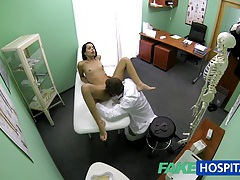 Fakehospital slim skinny young student cums in for check up gets the doctors creampie tubes