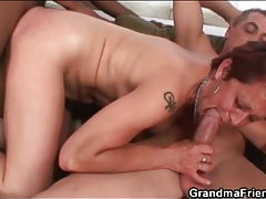 Interracial spit roasting threesome with slut tubes