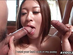 Risa misaki sucks dicks and gets fucked tubes