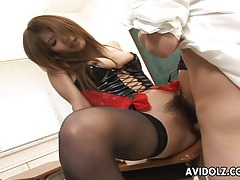 Japanese babe ai kurosawa fucked in her lingerie uncensored tubes