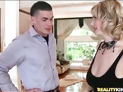 Busty pornstar clover gets those titties fondled tubes