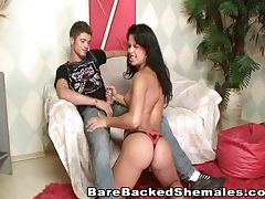 Hot shemale with pretty black hair gets fucked tubes