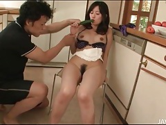 Hairy cunt japanese girl sucks his dick tubes