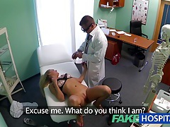 Fakehospital dizzy young blonde takes a creampie and starts to fall for the doctor tubes