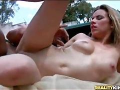 Slender latina gives her asshole to bbc tubes