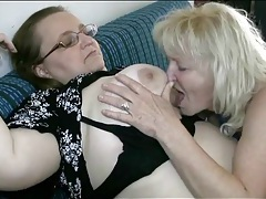 Chubby lesbos sucking nipples lustily tubes
