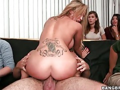 Porn sluts ride hard dick at frat party tubes