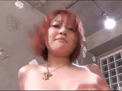 Big japanese boobs fondled as he fucks her tubes