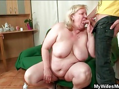 Fat mature bends over for doggystyle fucking tubes