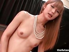Skinny asian tgirl fucks guy in the ass tubes
