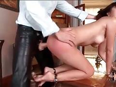 Bound asian babe anally fucked doggystyle tubes