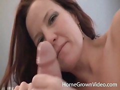 Cute girl jerks him off and talks naughty tubes