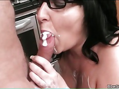 Sexy bbw fucked in her kitchen tubes