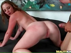 Big cock doggystyle sex with hot brunette tubes