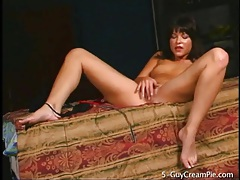 Shayna knight strips from sheer red sweater tubes