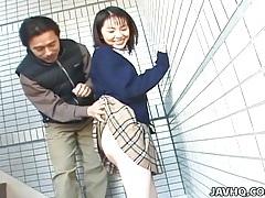Schoolgirl seire mochizuki gets kinky on the street. tubes