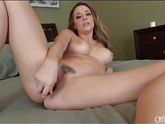Chanel preston fucks her pussy with toys tubes