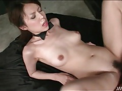 Cum covered japanese girl takes a hot creampie tubes