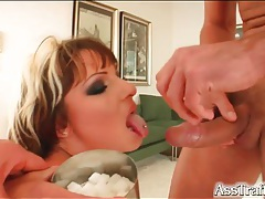 Two cocks and a dildo fuck this slut tubes