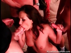 Mandy b gets on her knees and sucks dicks tubes