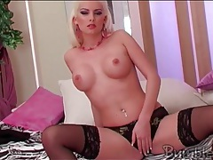 Bleach blonde katerina ulmanova in lingerie tube