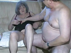 Old dick sucked by young lady and fucking granny tubes
